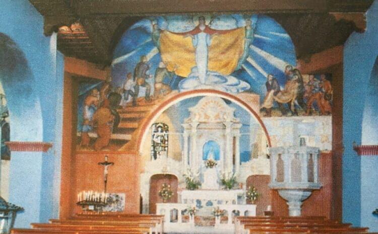 Višarje, poslikava Toneta Kralja