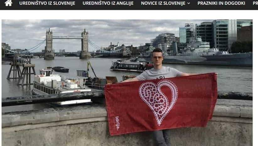 Bandera de Idrija con encaje en el centro de Londres