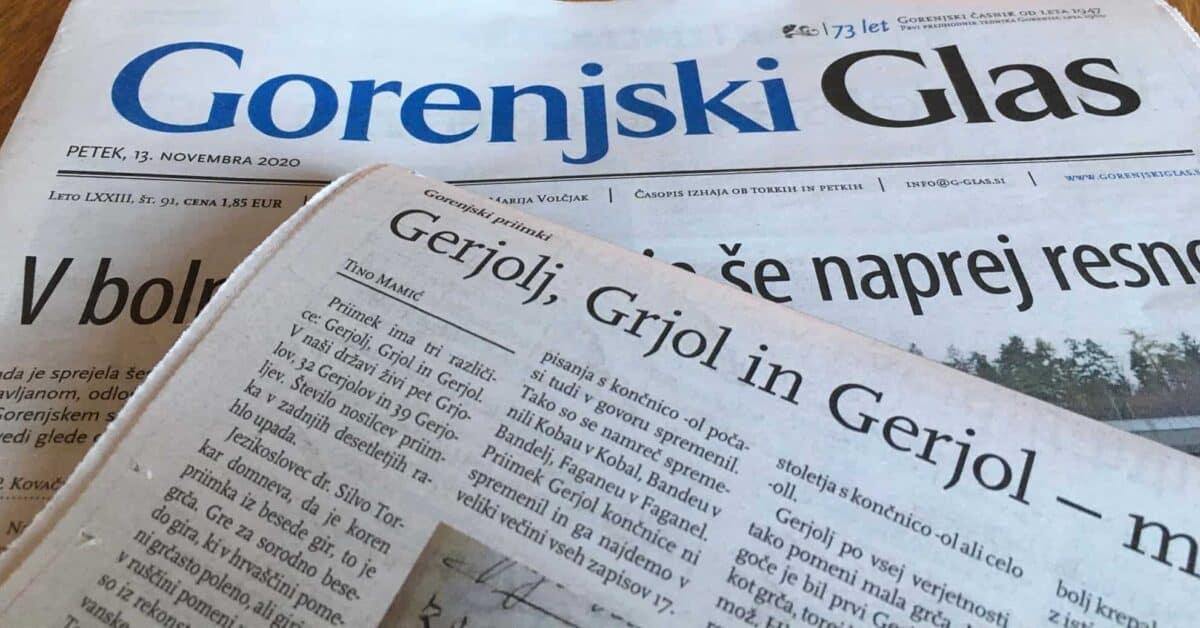 Gorenjski priimki: Kako in zakaj je nastal priimek Gerjolj, pa tudi Grjol in Gerjol