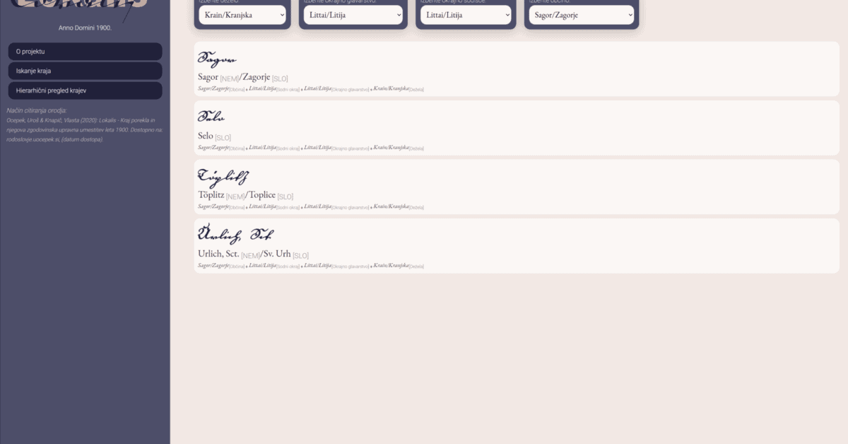 Kako najti nemška imena slovenskih krajev