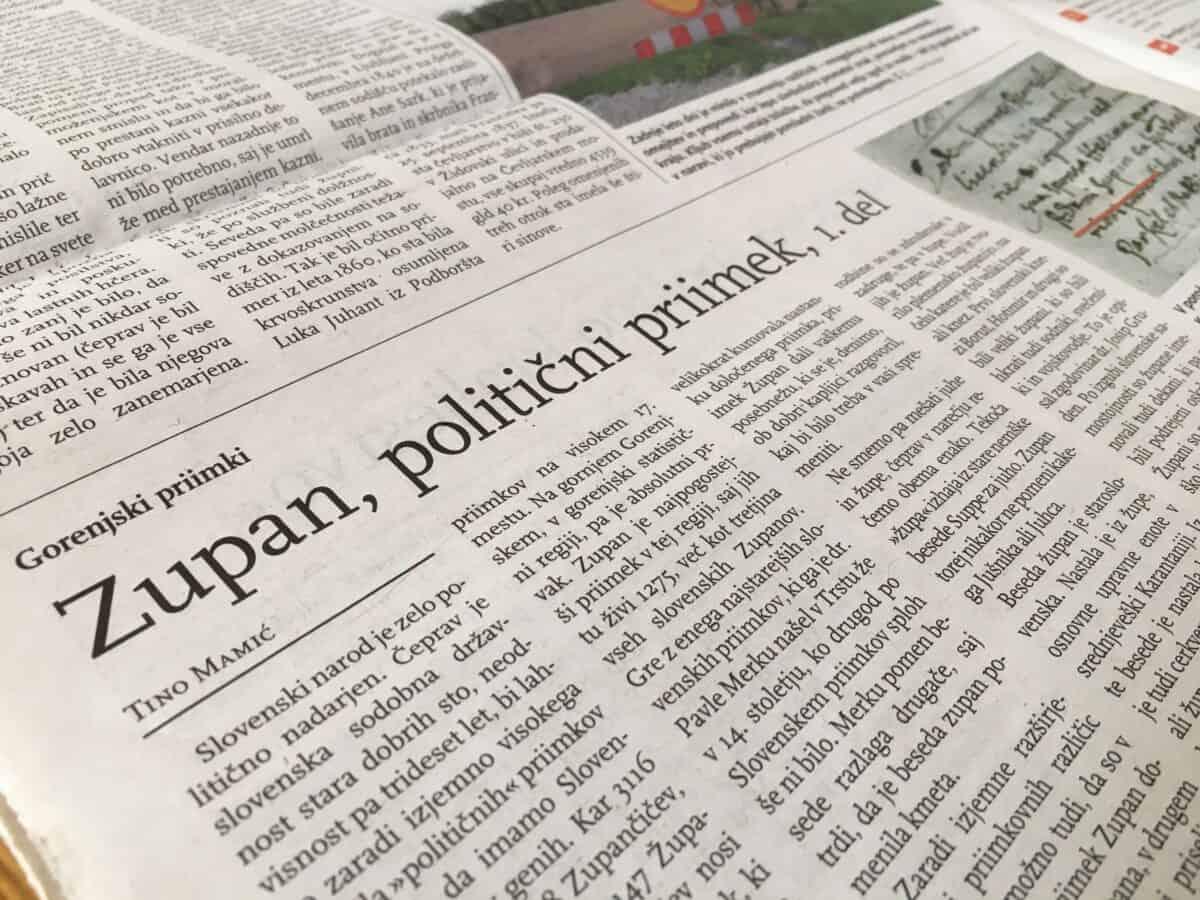 Cómo nació el apellido Zupan y cómo Zupančič