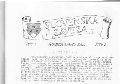 7. maj 1942: Poziv Slovenske zaveze