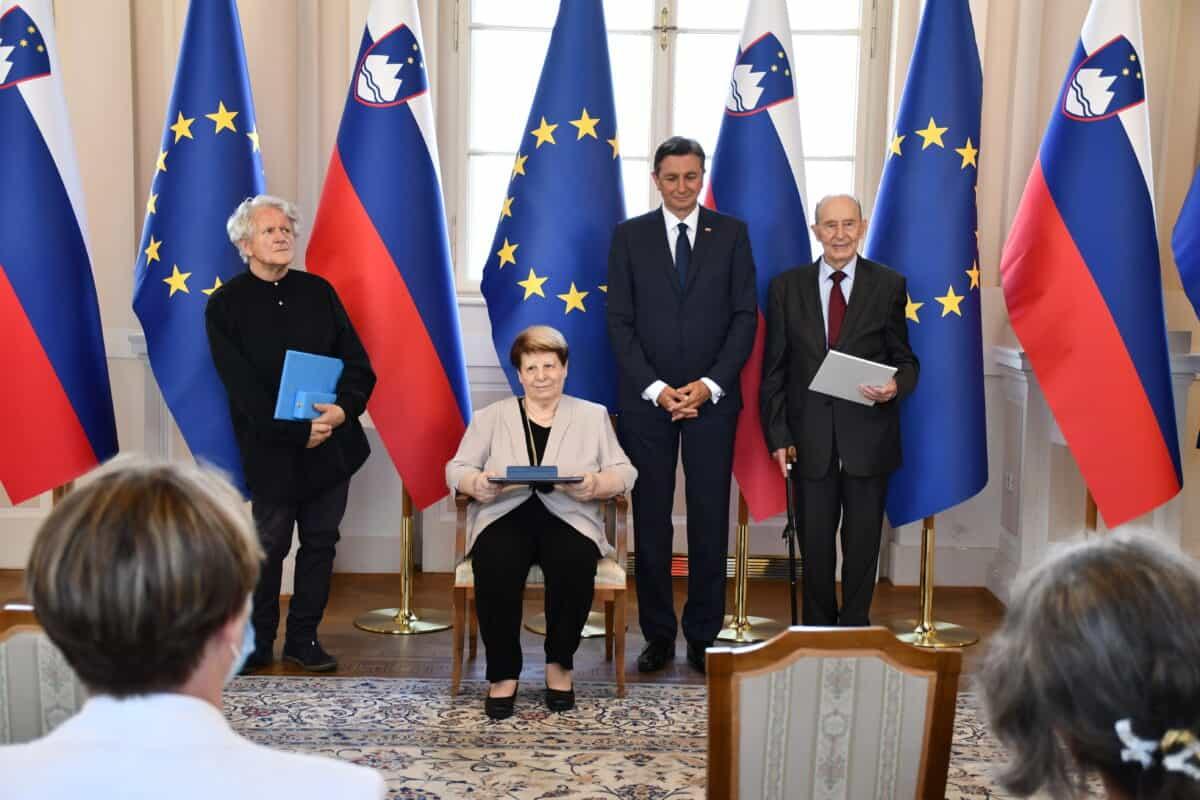 Čestitka ministrice dr. Jaklitsch Zorku Simčiču in Stanislavi Gregorič  ob prejemu odlikovanj Predsednika RS