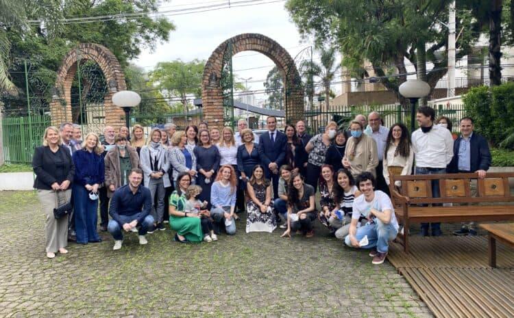 Ministrica dr. Jaklitsch med rojaki v Braziliji