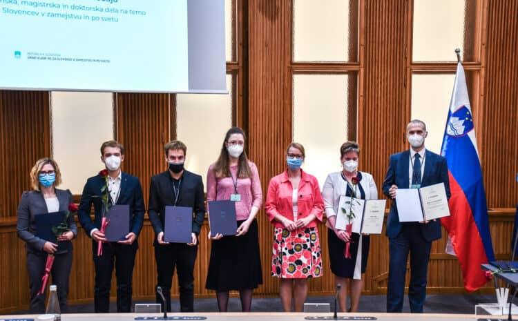 Slovesna podelitve XIX. nagradnega natečaja za diplomska, magistrska in doktorska dela na temo Slovencev v zamejstvu in po svetu