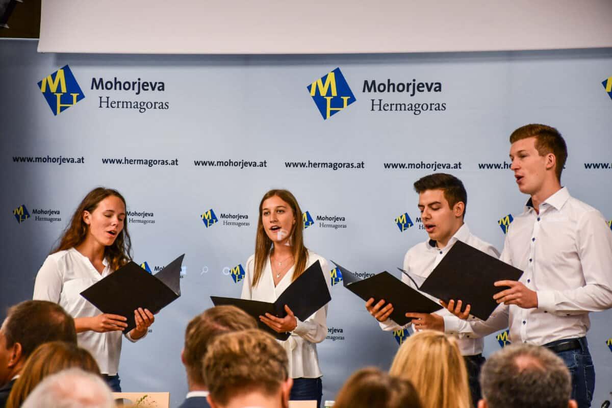Kvartet kluba slovenskih študentov nastop Skupno 2021